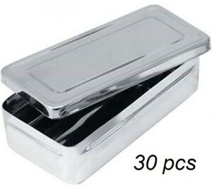 Hospital Holloware Surgical Instrument Steel Trays With Lids 30 Pcs