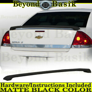 2006 2013 Chevrolet Chevy Impala Matte Black Factory Style Spoiler Trunk Wing