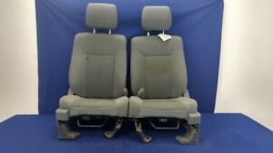 2012 2014 Ford F150 Pickup Truck Left Right Front Seat Bucket Captainchair Cloth