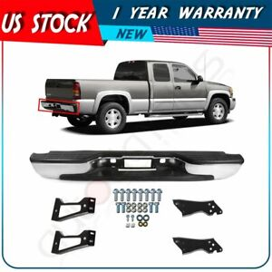 For 99 07 Chevy Silverado Gmc Sierra Fleetside Stainless Steel Rear Step Bumper