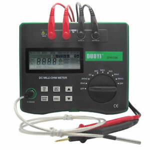 Dc Milliohm Meter Low Resistance Tester With Temperature Compensation