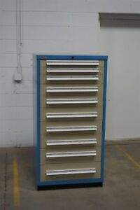 Used Lyon 10 Drawer Cabinet Industrial Tool Storage 1310 Vidmar