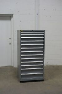 Used Lista 13 Drawer Cabinet Industrial Tool Storage 1315 Vidmar
