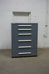 Used Stanley Vidmar 6 Drawer Cabinet Industrial Tool Storage 45 Wide 1314