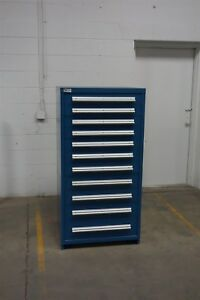 Used Stanley Vidmar 11 Drawer Cabinet Industrial Tool Box Storage 1320