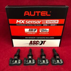Set Of 4 New Autel Tire Pressure Mx Sensors Universal Tpms 315mhz