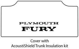 1965 1968 Plymouth Fury Trunk Rubber Floor Mat Cover With Mc 070 Fury