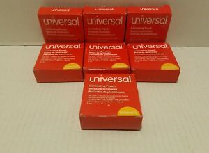 Universal Clear Laminating Pouches 5 Mil 2 15 16x3 1 8 Tag Size 100bx Lot Of 7