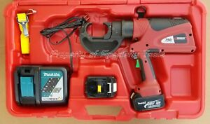 Burndy Pat750li Hydraulic Battery Operated Crimper 12 Ton U Type Crimping Tool