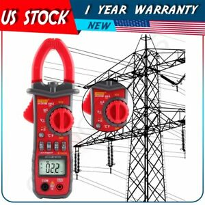 Digital Lcd Disaplay Clamp Ac dc Multimeter Amp Volt Meter Resistance Tester Us