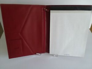 Lodis Leather Pad Portfolio With Business Card Holder And Zippered Pocket