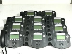 12 Polycom Soundpoint Ip550 With Handsets Cords And Stands