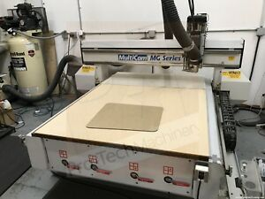 Multicam Mg Series 101 4x4 Cnc Router With Vacuum Pump 4hp Colombo Spindle