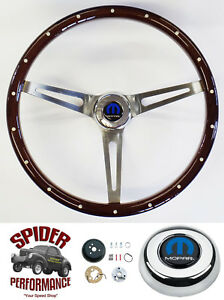 1970 1974 Charger Steering Wheel Mopar 15 Muscle Car Mahogany Foreversharp