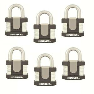 Brinks Home Security 50 Mm Commercial Padlock Laminated Steel 6 pack