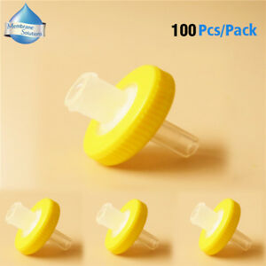 Lab Nylon Syringe Filter 13mm 0 22um Hplc 100pcs pk