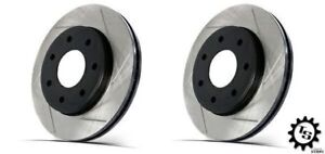 Stoptech Rear Slotted Rotors Brembo Calipers For 03 09 Infiniti G35 Nissan 350z