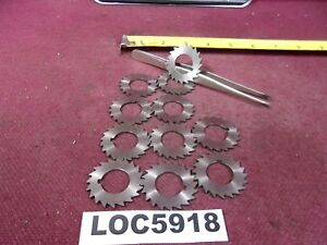 Lot Of 11 Thurston Hss Slitting Saw 1 1 2 Dia o81 Thick 3 4 Arbor Loc5918