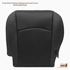 2011 2012 Dodge Ram 1500 Laramie Driver Side Bottom Leather Seat Cover Dark Gray