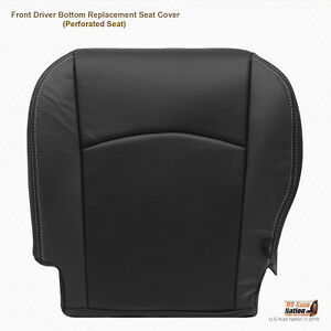 2009 2012 Dodge Ram Laramie driver Bottom Perforated Leather Seat Cover Darkgray
