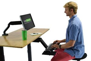 Kt2 Adjustable Height Angle Under Desk Sit To Stand Standing Desk Keyboard Tray