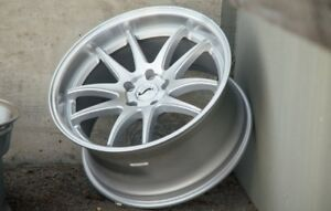 18x9 5 Aodhan Ds02 5x114 3 15 Silver Rims Stance Fits Tc Xb Rx8 Speed3