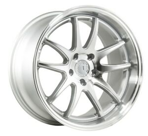 18x9 5 Aodhan Ds2 5x114 3 15 Silver Machined Rims Aggressive Fits Evo 8 9 240sx