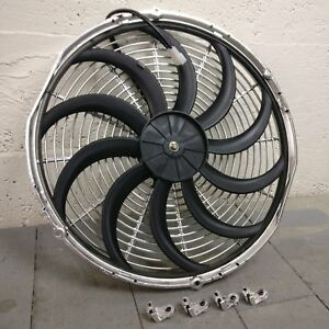 1999 Ford Contour 16 Inch Chrome Radiator Fan Performance Cooling 12v Ultra