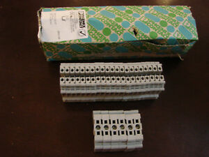 New Phoenix Contact Lot 21 Uk 5 N Terminal Block 6 E ns 35 N Din Rail End