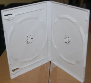 100 Double Dvd Cases 2 disc White Multi 14mm generic D d3b w ab