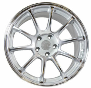 18x9 30 Aodhan Ah06 5x114 3 Silver Wheel Fit Acura Rsx Tsx Tl Tlx Concave 5x4 5
