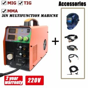 220a Inverter Mig Welder Mag Welding Machine Gasless Gas 220v Mma Lift Tig