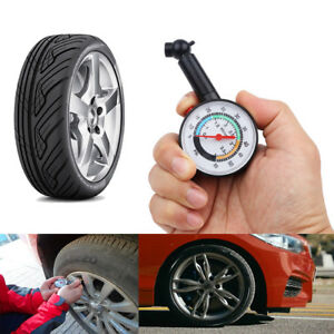 Tire Air Pressure Gauge All Cars Bike Motorcycle Universal Dial Meter