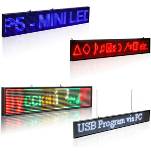 Leadleds P5 Smd Led Wireless Open Sign Programmable Scrolling Message Multicolor