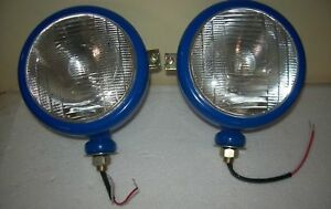 Ford Tractor Lh Rh Head Light Set Blue Colour
