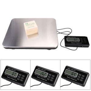660 Lbs Digital Scale Lcd Postal Platform Shipping Floor Bench 300kg Weight Us