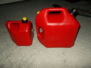 2 Sizes Blitz Pre Ban 5 Gallon Gas Can Jug 2 Gal Complete Spouts