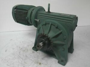 801688 Ls71 Xr60 H0g 269551 1 Leroy Somer Motor With Gearbox 1 2hp used Tested