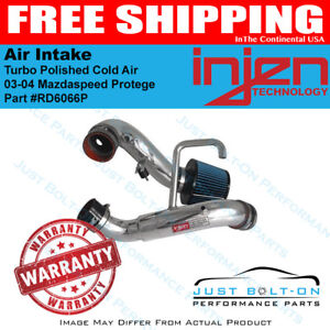 Injen For 03 04 Mazdaspeed Protege Turbo Polished Cold Air Intake Rd6066p