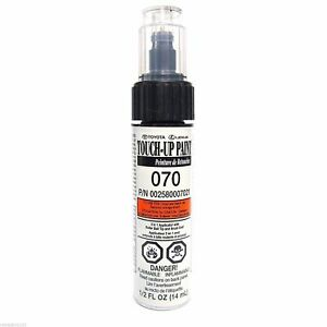 Genuine Toyota 00258 00070 21 White Touch Up Paint Pen Blizzard Pearl 070 New Fits 2014 Camry Se
