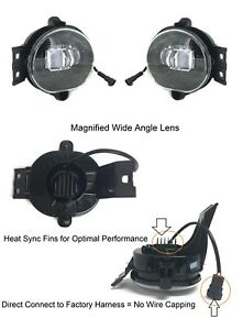Magnified Lens Led Replacement Fog Lights For 2003 2008 Dodge Ram 1500 2500 3500