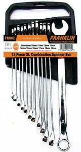 Franklin 12 Piece Extra Long Combination Spanner Set Metric 8 19mm Fb802