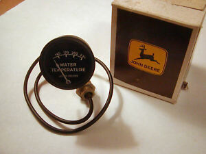 John Deere Water Temperature Gauge Nos Aa883r 23 Lead Black Face