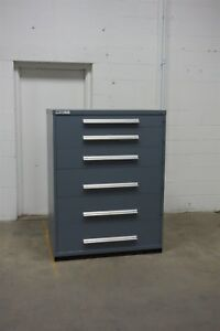 Used Vidmar 6 Drawer Cabinet Industrial Toolbox Storage 45 Wide 1332