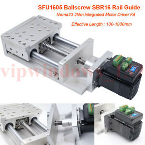 Cnc Xyz Axis Sliding Table Cross Slide Sfu1605 Ballscrew 2nm Closed loop Stepper