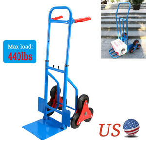 440lbs Heavy Duty Stair Climbing Dolly Hand Truck Warehouse Appliance Cart Us