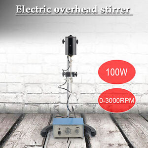 Overhead Magnetic Stirrer 100w Lab Mechanical Mixer 0 2000 Rpm With Stir Shaft