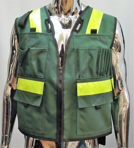 Cordura 1000d High Viz Vest With Multiple Front Pockets And Tablet Pouch Medium