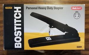 Stanley Bostitch Personal Heavy duty Stapler Black Anti jam Non slip Base Pad