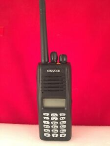 Refurbished Kenwood Nx 210 Vhf 136 174 Mhz Radio With Charger And Speaker Mic